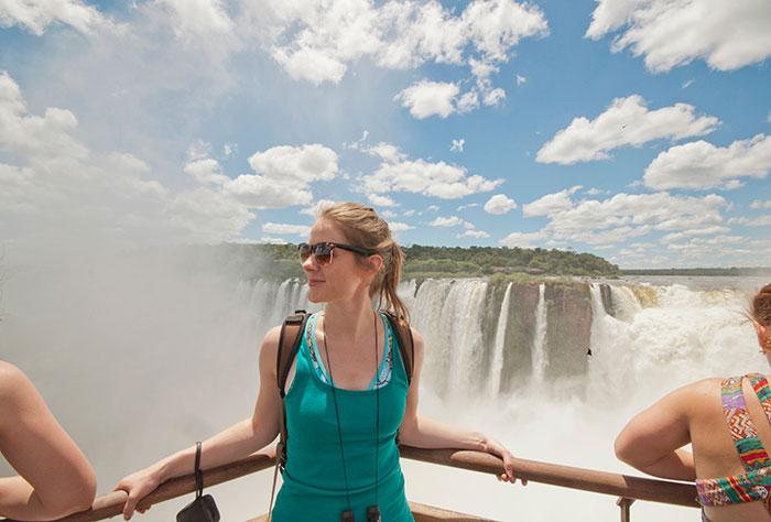 Erica at Iguazu Falls